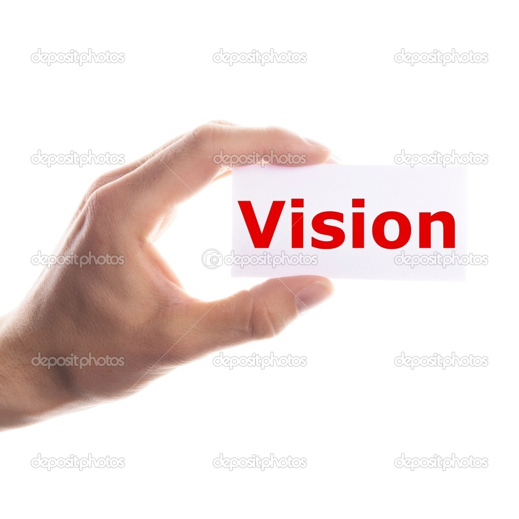 Vision or future concept with hand word and paper — Stock Photo #3920164