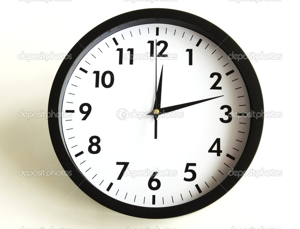 Time concept with watch or clock on white wall — Stock Photo #3920290