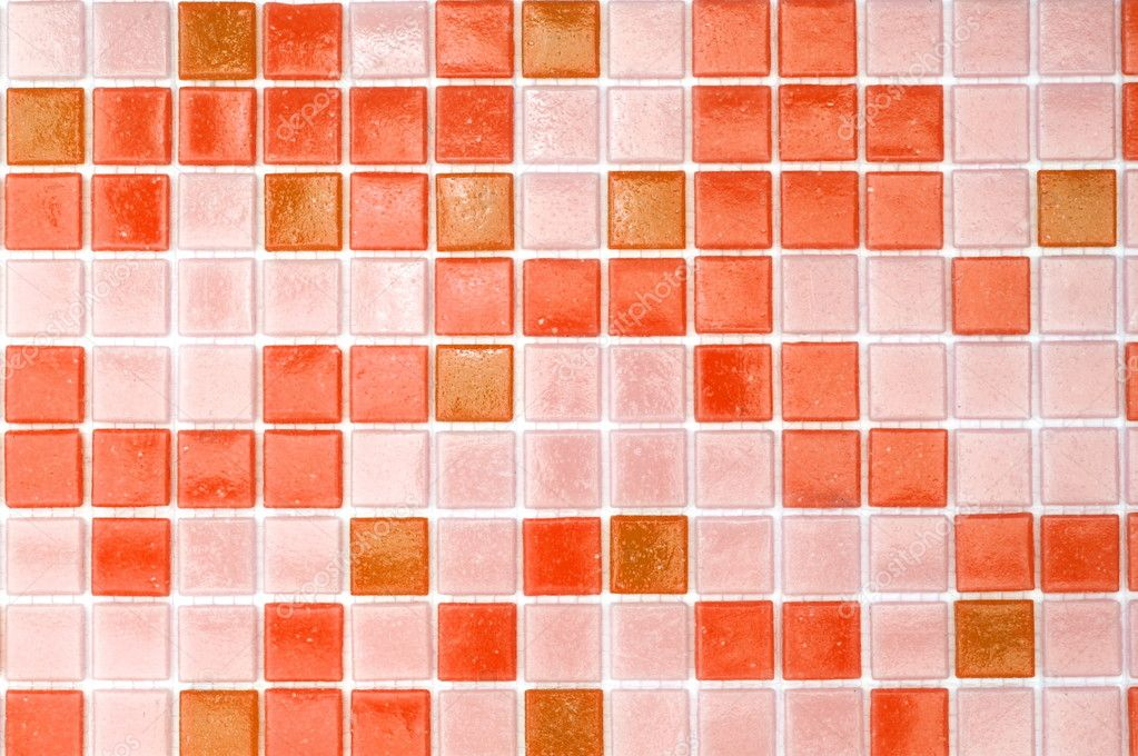 Mosaic of tiles in the bathroom as a background — Stock Photo #3920470