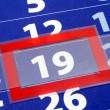 Red and blue calendar - Stock Photo
