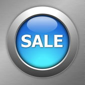 Blue sale button — Stock Photo