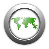 World map button — Stock Photo