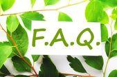 Faq — Zdjęcie stockowe