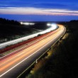 Night traffic on highway — Stock Photo