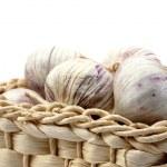 Garlic isolated on white — Stock Photo