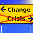Foto Stock: Change and crisis