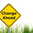 Foto de Stock  : Change ahead