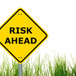 Risk ahead — Stock Photo