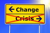 Change and crisis — Stock Photo