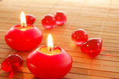 Holiday candle — Stock Photo