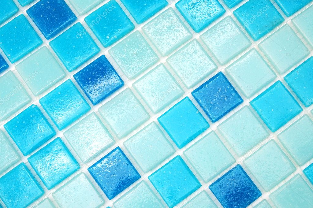 Mosaic of tiles in the bathroom as a background — Stock Photo #3980664