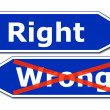 Right or wrong - Foto Stock