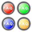 Stock Photo: Faq button collection