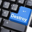 Destroy button — Stock Photo