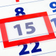 15 calendar day — Stock Photo