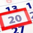 20 calendar day — Stock Photo