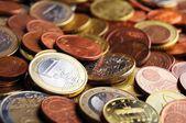 Euro money coins — Stock Photo