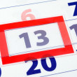 13 calendar day — Stock Photo