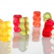 Gummy bears dancing at a party — Stock Photo