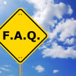 Faq sign — Stock Photo