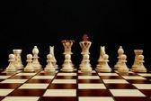 Chess conflict — Stock Photo