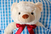 Sick teddy bear — Stock Photo