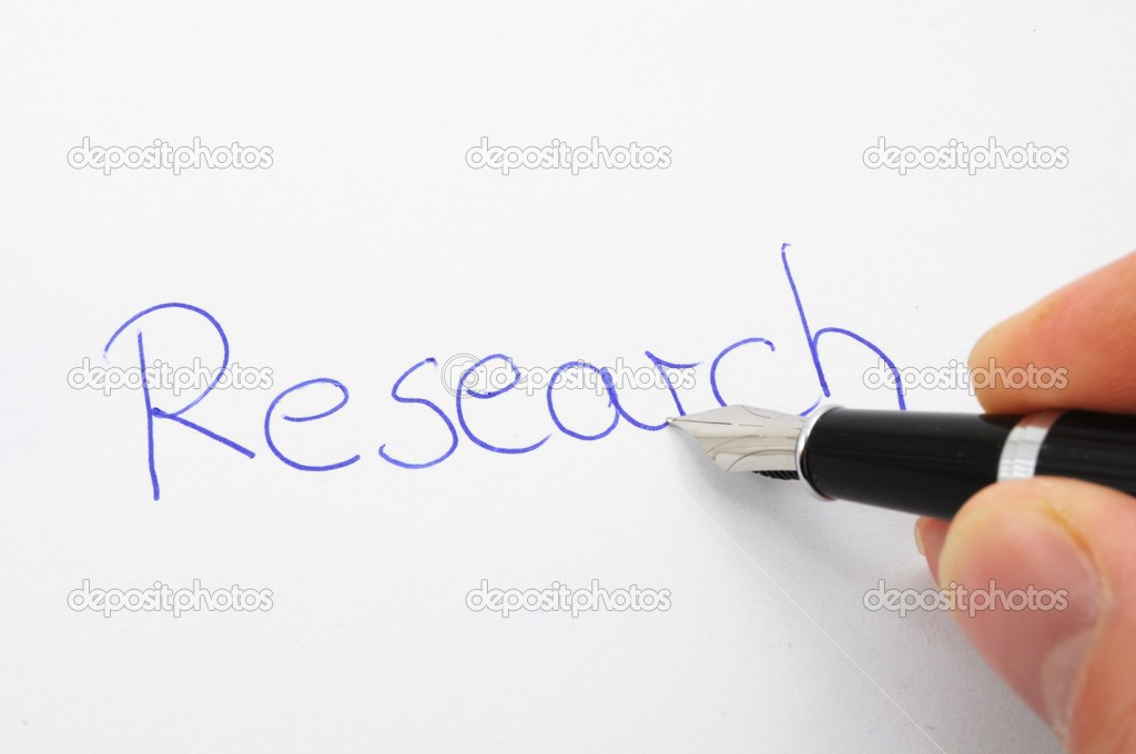 Research concept with handwriting pen and paper  — Stock Photo #4107451