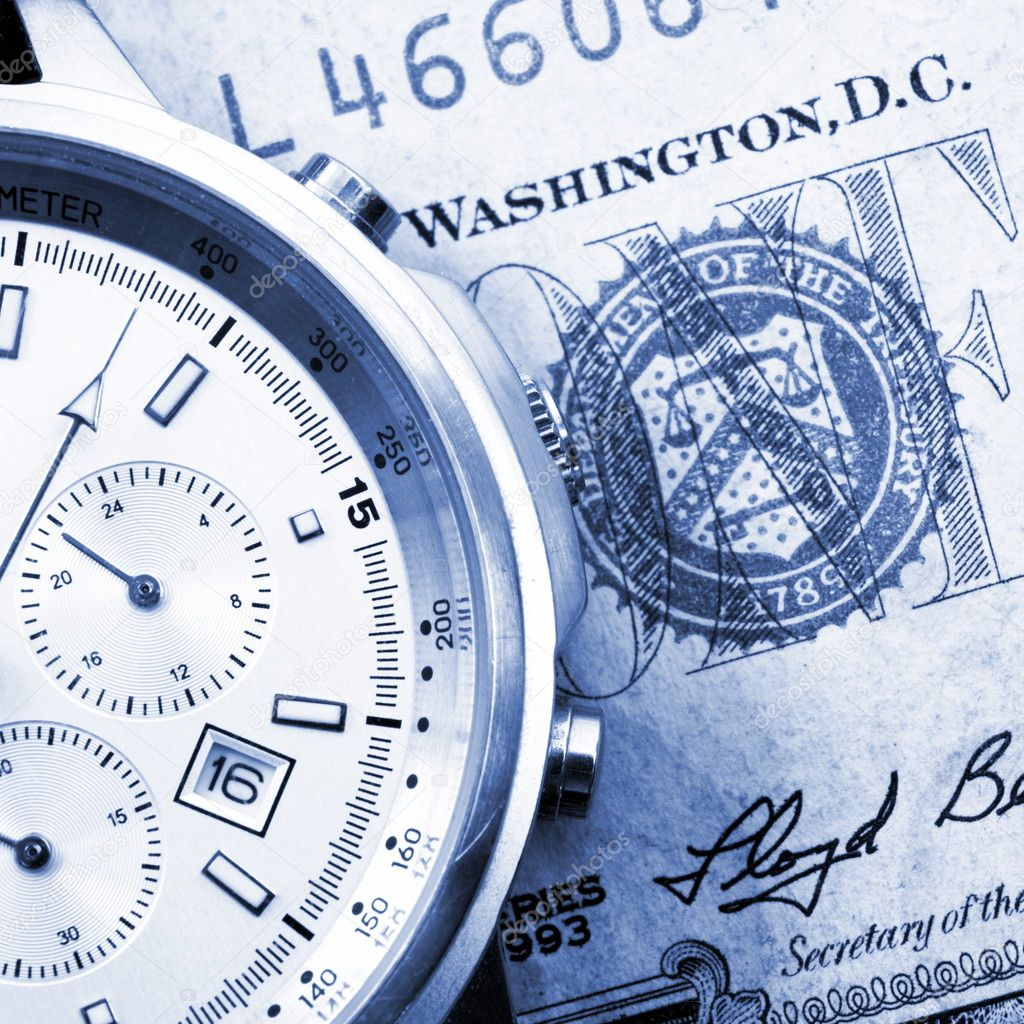Time is business money concept with watch                                      — Stock Photo #4109030