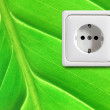 Stock Photo: Green power supply