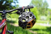 Bike helmet — Stock Photo