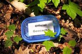 Official geocache — Stock Photo