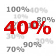 Royalty-Free Stock Photo: 40 percent