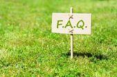 Perguntas freqüentes — Foto Stock