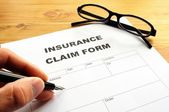 Insurance claim form — Foto Stock