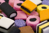 Macro of liqurice allsorts — Stock Photo