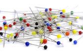 Pins on a white background — Stockfoto