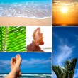 Summer and beach — Stock Photo