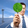 Green energy business concept - Stock Photo