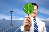 Green energy business concept — 图库照片