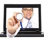Здравоохранения и медицинской службы из Интернета — Стоковое фото