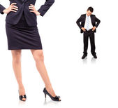The power of woman in office — Stock Photo