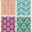 Retro wallpaper set - Stock Vector