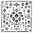 Different style ornament set — Cтоковый вектор