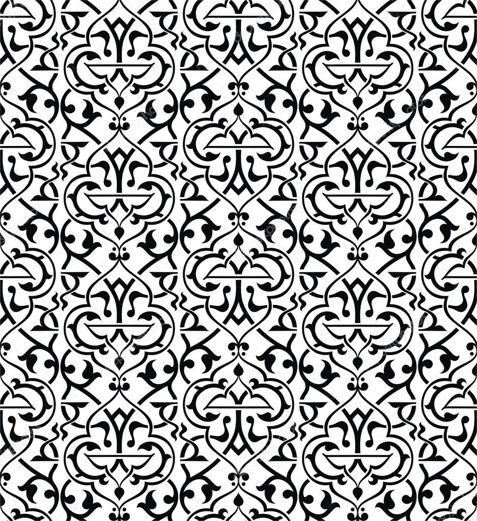 Arri re plan transparent arabesque image vectorielle for Arabesque style decoration