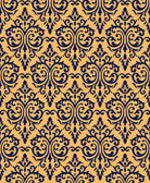 Seamless vintage damask background — Stock Vector