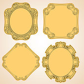 Old frame set — Stock Vector