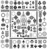 διαφορετικό στυλ σχεδιαστικά στοιχεία — Διανυσματικό Αρχείο