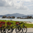 Bicycles  by the beach - Stock Photo