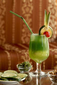 Green_cocktail — Stock Photo
