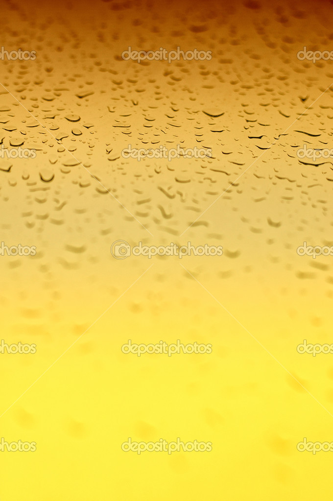 A Yellow gradient water drops  background with an area in focus  Stock Photo #3081812